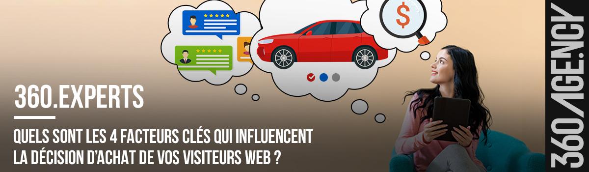 Quels sont les 4 facteurs clés qui influencent la décision d'achat de vos visiteurs web ?