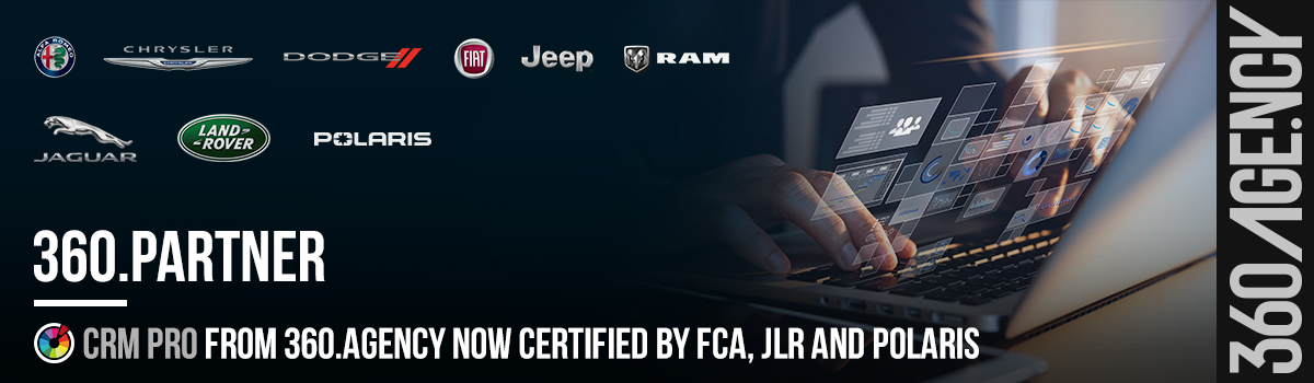 360.Agency CRM Pro Now Certified by FCA, JLR and Polaris