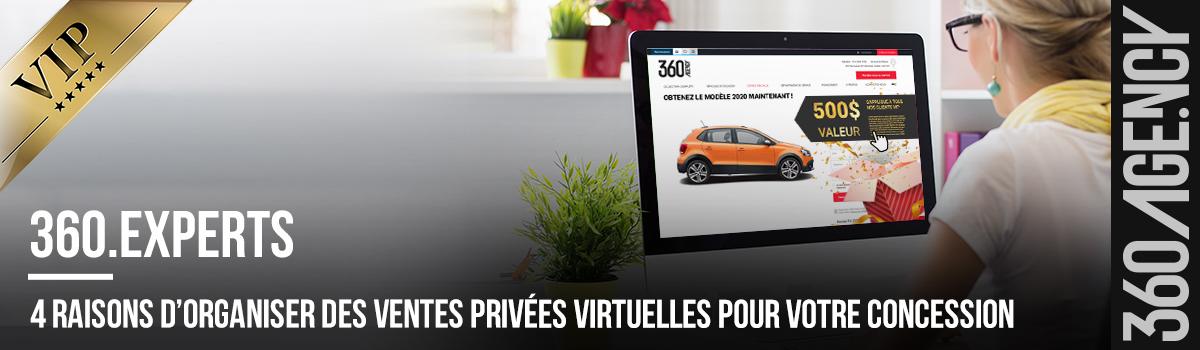 4 raisons d'organiser des ventes privées virtuelles pour votre concession