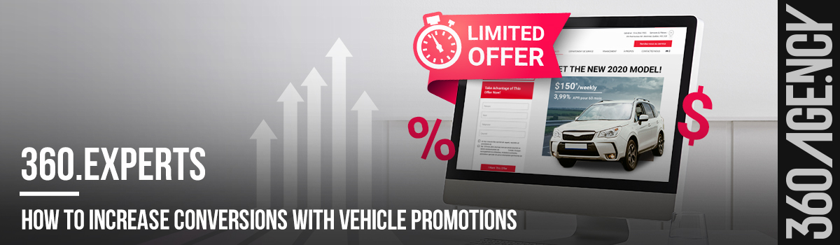 Increase conversions with vehicle promotions