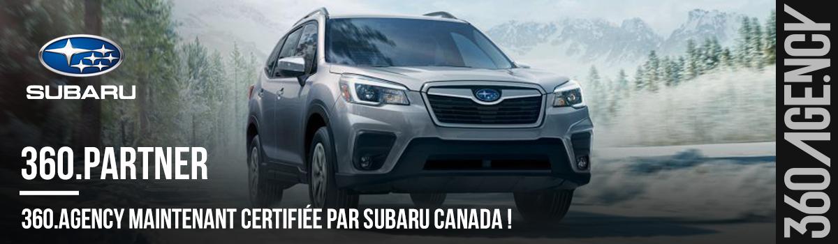 2020-10-header-360.Agency maintenant certifiée par Subaru Canada !
