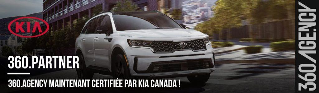 360.Agency certifié par KIA Canada