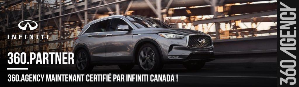 360.Agency maintenant certifié par INFINITI Canada !-header- fR