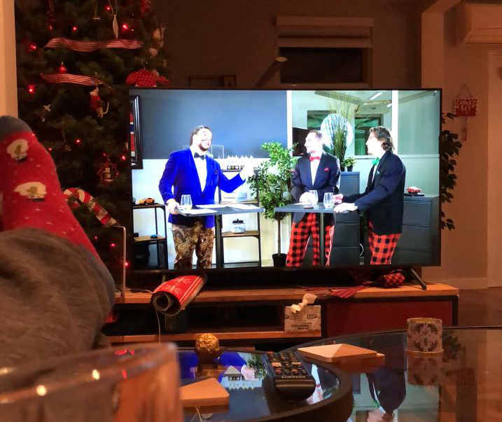Remotely watching the 2020 Christmas Party